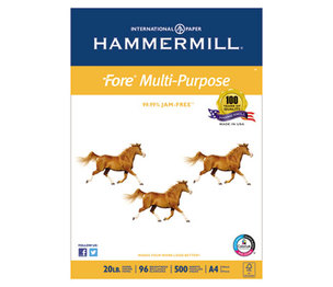Hammermill 10303-6 Fore MP Multipurpose Paper, 96 Brightness, 20lb, 210mm x 297mm, White, 500/Ream by HAMMERMILL/HP EVERYDAY PAPERS