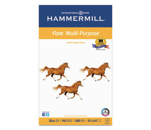 Hammermill 10329-1 Fore MP Multipurpose Paper, 96 Brightness, 20 lb, 8-1/2 x 14, White, 500/Ream by HAMMERMILL/HP EVERYDAY PAPERS