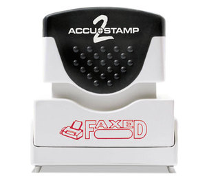 Consolidated Stamp Manufacturing Company 035583 Accustamp2 Shutter Stamp with Microban, Red, FAXED, 1 5/8 x 1/2 by CONSOLIDATED STAMP