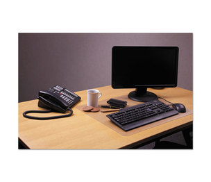 "Floortex FPDE1924RA Desktex Polycarbonate Anti-Slip Desk Mat, 24"" x 19"", Clear by FLOORTEX"
