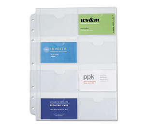 DAYTIMER'S INC. D87325B Business Card Holders for Looseleaf Planners, 8 1/2 x 11, 5/Pack by DAYTIMER'S INC.