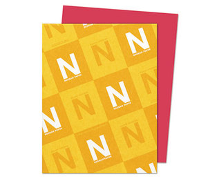 Neenah Paper, Inc 22751 Astrobrights Colored Card Stock, 65 lb., 8-1/2 x 11, Re-Entry Red, 250 Sheets by NEENAH PAPER