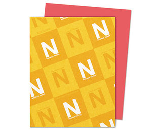 Neenah Paper, Inc 22841 Astrobrights Colored Card Stock, 65 lb., 8-1/2 x 11, Rocket Red, 250 Sheets by NEENAH PAPER