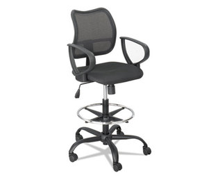 Vue Series Mesh Extended Height Chair, Acrylic Fabric Seat, Black by SAFCO PRODUCTS