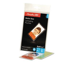 Swingline 3745685B SelfSeal Single-Sided Wallet Laminating Sheets, 8mil, 2 3/8 x 3 7/8, 10/Pack by SWINGLINE