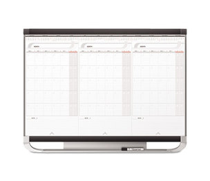 Quartet CCP32P2 Prestige 2 Total Erase 3-Month Calendar, 36 x 24, White Surface, Graphite Frame by QUARTET MFG.