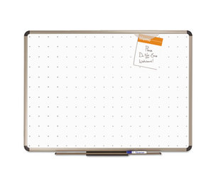 Quartet TE564T Prestige Total Erase Whiteboard, 48 x 36, White Surface, Euro Titanium Frame by QUARTET MFG.