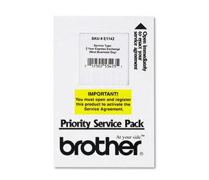 Brother Industries, Ltd E1142 Two-Year Extended Warranty Express Exchange Service for FAX2820/2910/2920/4100E by BROTHER INTL. CORP.