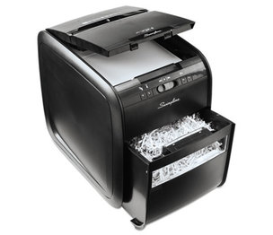 ACCO Brands Corporation 1757574 Stack-and-Shred 80X Auto Feed Shredder, Cross-Cut, 80 Sheets, 1 User by SWINGLINE