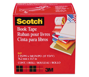 "3M 8453 Book Repair Tape, 3"" x 15yds, 3"" Core by 3M/COMMERCIAL TAPE DIV."