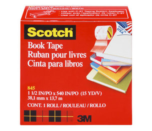"3M 845112 Book Repair Tape, 1 1/2"" x 15yds, 3"" Core by 3M/COMMERCIAL TAPE DIV."