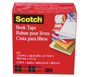 "3M 8452 Book Repair Tape, 2"" x 15yds, 3"" Core by 3M/COMMERCIAL TAPE DIV."