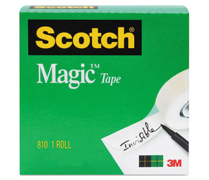 """3M 8101K Magic Tape, 3/4"""" x 1000"""", 1"""" Core, Clear by 3M/COMMERCIAL TAPE DIV."""