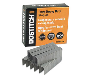 "Stanley-Bostitch Office Products BOS-SB38HD-1M Heavy-Duty Premium Staples, 3/16"" Leg Length, 1000/Box by STANLEY BOSTITCH"