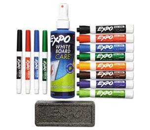Sanford, L.P. 80054 Low-Odor Dry Erase Marker, Eraser & Cleaner, Chisel/Fine, 12/Set by SANFORD