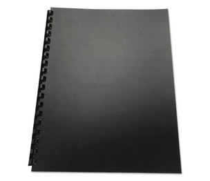 Swingline 25818 100% Recycled Poly Binding Cover, 11 x 8-1/2, Black, 25/Pack by SWINGLINE