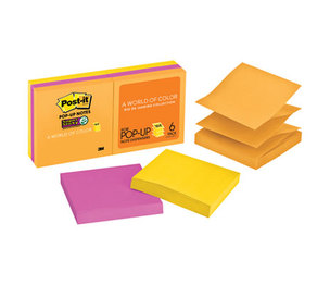 3M R330-6SSUC Pop-up 3 x 3 Note Refill, Rio de Janeiro, 90/Pad, 6 Pads/Pack by 3M/COMMERCIAL TAPE DIV.