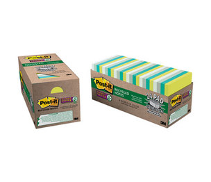 3M 654-24SST-CP Recycled Notes in Bora Bora Colors, 3 x 3, 70/Pad, 24 Pads/Pack by 3M/COMMERCIAL TAPE DIV.