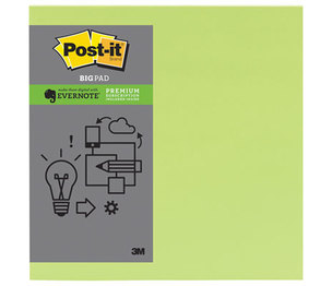 3M BP11L-EV Evernote Collection Notes, 11 x 11, Limeade, 1 30-Sheet Pad by 3M/COMMERCIAL TAPE DIV.