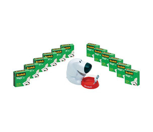 """3M 810K12C31DOG Dog Tape Dispenser Value Pack, 1"""" Core for up to 3/4"""" Tapes by 3M/COMMERCIAL TAPE DIV."""