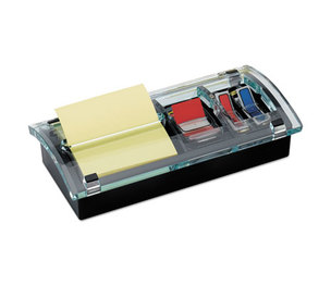 3M DS-100 Note and Flag Dispenser, 3 x 3 Canary Notes and Assorted Flags, Black Dispenser by 3M/COMMERCIAL TAPE DIV.