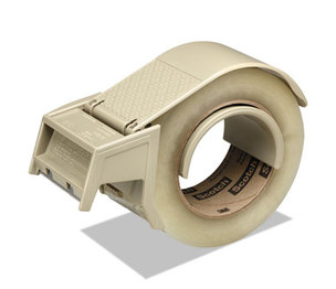 """3M H122 Compact and Quick Loading Dispenser for Box Sealing Tape, 3"""" Core, Plastic, Gray by 3M/COMMERCIAL TAPE DIV."""