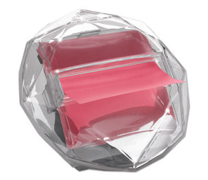3M DIA330 Pop-Up Notes Diamond Dispenser, 3 x 3 Pad, Clear by 3M/COMMERCIAL TAPE DIV.