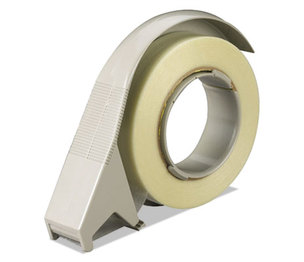 """3M H12 H12 Filament Tape Hand Dispenser, 3"""" Core, High-Impact Plastic, Putty by 3M/COMMERCIAL TAPE DIV."""
