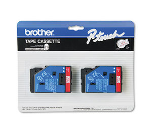 Brother Industries, Ltd TC-11 TC Tape Cartridges for P-Touch Labelers, 1/2w, Red on Clear, 2/Pack by BROTHER INTL. CORP.
