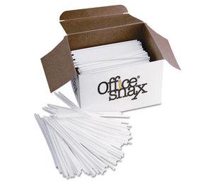 "Office Snax STR5 Plastic Stir Sticks, 5"", Plastic, White, 1000/Box by OFFICE SNAX, INC."