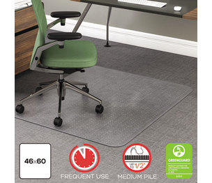 Deflecto Corporation CM15443F RollaMat Frequent Use Chair Mat for Medium Pile Carpet, 46 x 60, Clear by DEFLECTO CORPORATION