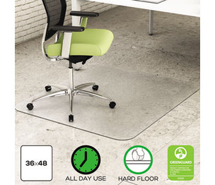Deflecto Corporation CM2G142PET EnvironMat Recycled Anytime Use Chair Mat for Hard Floor, 36 x 48, Clear by DEFLECTO CORPORATION