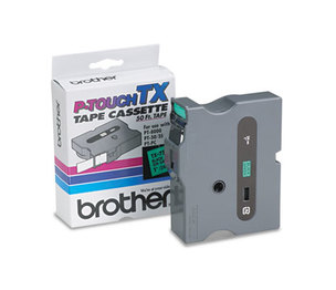 Brother Industries, Ltd TX7511 TX Tape Cartridge for PT-8000, PT-PC, PT-30/35, 1w, Black on Green by BROTHER INTL. CORP.