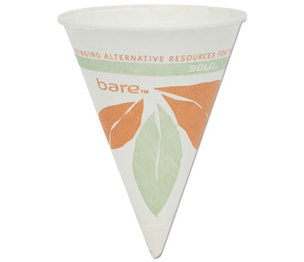 SOLO 4BR-J8614 Bare Eco-Forward Paper Cone Water Cups, 4oz, White, 200/Pack, 25 Packs/Carton by SOLO CUPS