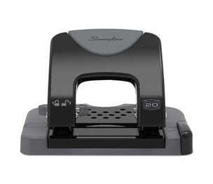 """ACCO Brands Corporation A7074135 20-Sheet SmartTouch Two-Hole Punch, 9/32"""" Holes, Black/Gray by ACCO BRANDS, INC."""