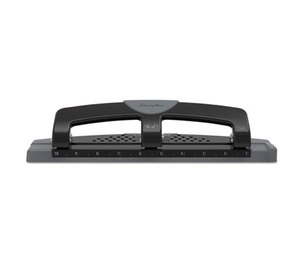 "ACCO Brands Corporation A7074134 12-Sheet SmartTouch Three-Hole Punch, 9/32"" Holes, Black/Gray by ACCO BRANDS, INC."