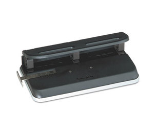 "ACCO Brands Corporation A7074150E 24-Sheet Easy Touch Three- to Seven-Hole Punch, 9/32"" Holes, Black by ACCO BRANDS, INC."
