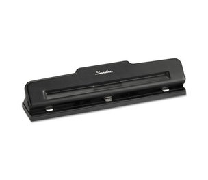 """ACCO Brands Corporation A7074015K 10-Sheet Desktop Three-Hole Adjustable Punch, 9/32"""" Holes, Black by ACCO BRANDS, INC."""