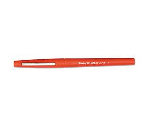 Sanford, L.P. 8420152 Point Guard Flair Porous Point Stick Pen, Red Ink, Medium, Dozen by SANFORD