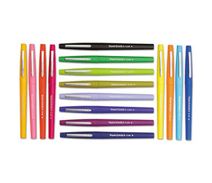 Sanford, L.P. 70644 Point Guard Flair Porous Point Stick Pen, Assorted Ink, Medium, 16 per Pack by SANFORD