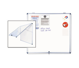 Bi-silque S.A VT380109150 Slim-Line Enclosed Dry Erase Board, 47 x 38, Aluminum Case by BI-SILQUE VISUAL COMMUNICATION PRODUCTS INC
