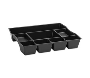 RUBBERMAID COMMERCIAL PROD. 21864 Nine-Compartment Deep Drawer Organizer, Plastic, 14 7/8 x 11 7/8 x 2 1/2, Black by RUBBERMAID