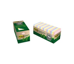 3M 654R-24CP-AP Original Recycled Notes, Cabinet Pack, 3 x 3, Helsinki, 75/Pad, 24 Pads/Pack by 3M/COMMERCIAL TAPE DIV.