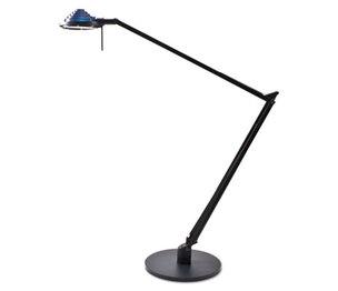 "LEDU CORP. L460BK Concentrolite Halogen Desk Lamp, Tiered Shade, Weighted Base, 34"" Reach, Black by LEDU CORP."