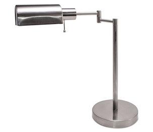 "LEDU CORP. LED-L9022 Adjustable Full Spectrum Table Lamp, 16"" High, Brushed Steel by LEDU CORP."
