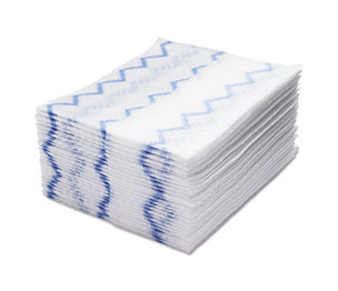 RUBBERMAID COMMERCIAL PROD. 1928023 HYGEN Disposable Microfiber Cleaning Cloths, White/Blue, 12.2 x 14.3, 640/Pack by RUBBERMAID COMMERCIAL PROD.