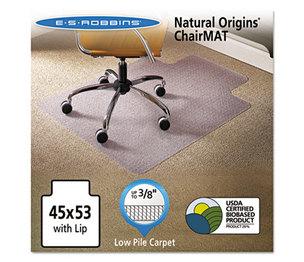 E.S. ROBBINS 141042 Natural Origins Chair Mat With Lip For Carpet, 45 x 53, Clear by E.S. ROBBINS