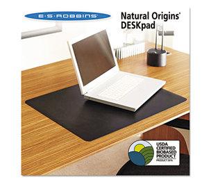 E.S. ROBBINS 120758 Natural Origins Desk Pad, 36 x 20, Matte, Black by E.S. ROBBINS
