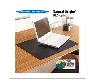 E.S. ROBBINS 120797 Natural Origins Desk Pad, 38 x 24, Matte, Black by E.S. ROBBINS