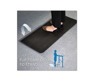 E.S. ROBBINS 184603 Sit or Stand Mat for Carpet or Hard Floors, 45 x 53, Clear/Black by E.S. ROBBINS